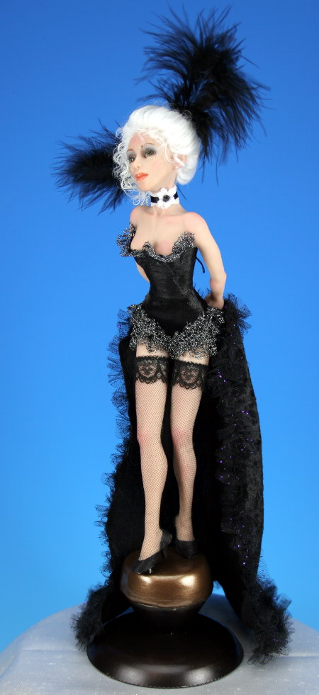 Can Can Dancer - One-Of-A-Kind Doll by Tanya Abaimova. Characters Gallery