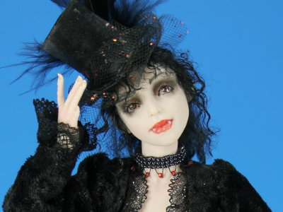 London Nights - One-of-a-kind Art Doll by Tanya Abaimova