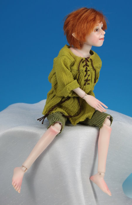 Peter Pan - One-Of-A-Kind Doll by Tanya Abaimova. Ball-Jointed Dolls Gallery