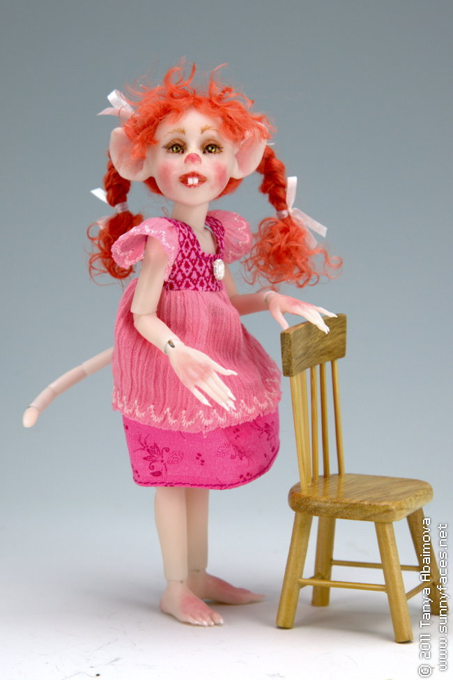 Ruby - One-Of-A-Kind Doll by Tanya Abaimova. Ball-Jointed Dolls Gallery