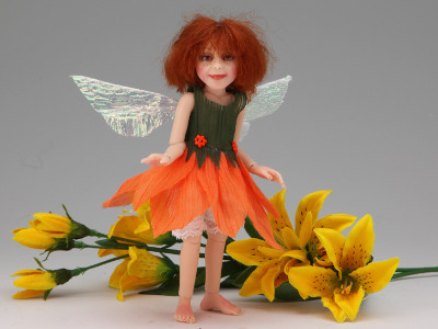 Daylily - One-of-a-kind Art Doll by Tanya Abaimova