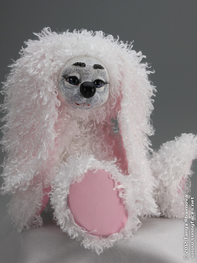 Hopper The Bunny - One-Of-A-Kind Doll by Tanya Abaimova. Soft Sculptures Gallery