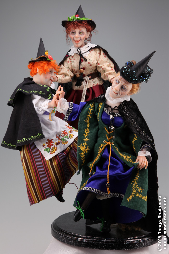 Dancing Witches - One-Of-A-Kind Doll by Tanya Abaimova. Characters Gallery