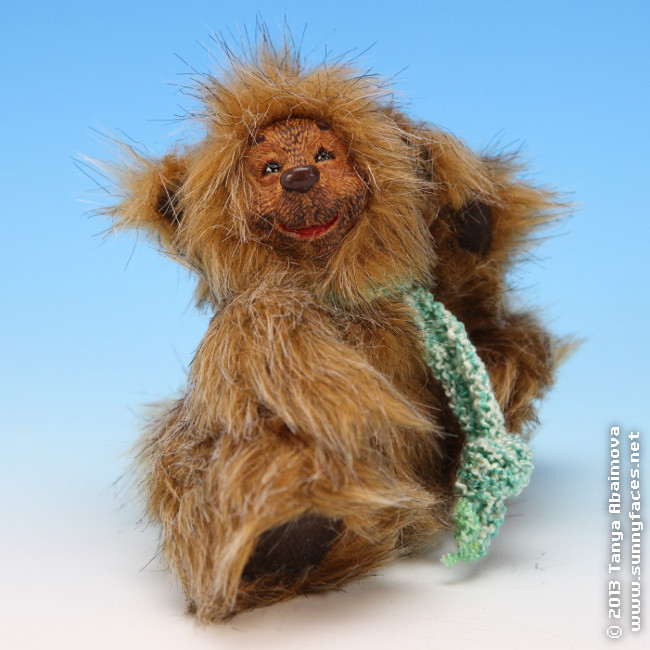 Fluffy - One-Of-A-Kind Doll by Tanya Abaimova. Soft Sculptures Gallery