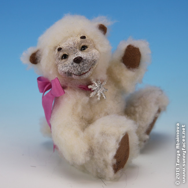Snowflake - One-Of-A-Kind Doll by Tanya Abaimova. Soft Sculptures Gallery