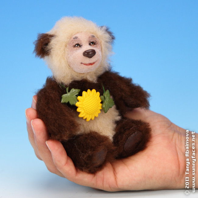 Flower - One-Of-A-Kind Doll by Tanya Abaimova. Soft Sculptures Gallery