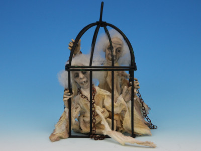 Caged - One-of-a-kind Art Doll by Tanya Abaimova