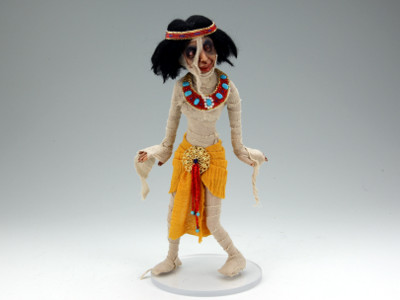 Mummette in Yellow - One-of-a-kind Art Doll by Tanya Abaimova