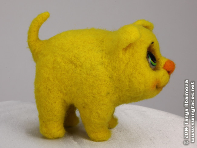 Sunshine - One-Of-A-Kind Doll by Tanya Abaimova. Soft Sculptures Gallery