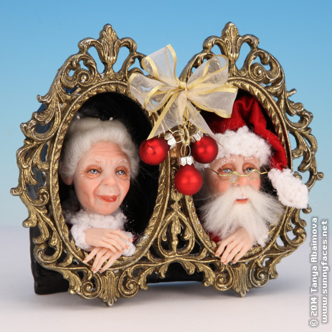 Mr. and Mrs. Claus - One-Of-A-Kind Doll by Tanya Abaimova. Characters Gallery