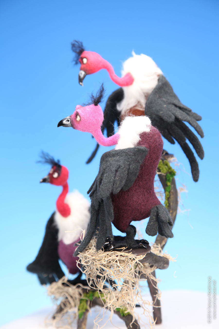 Vultures - One-Of-A-Kind Doll by Tanya Abaimova. Soft Sculptures Gallery