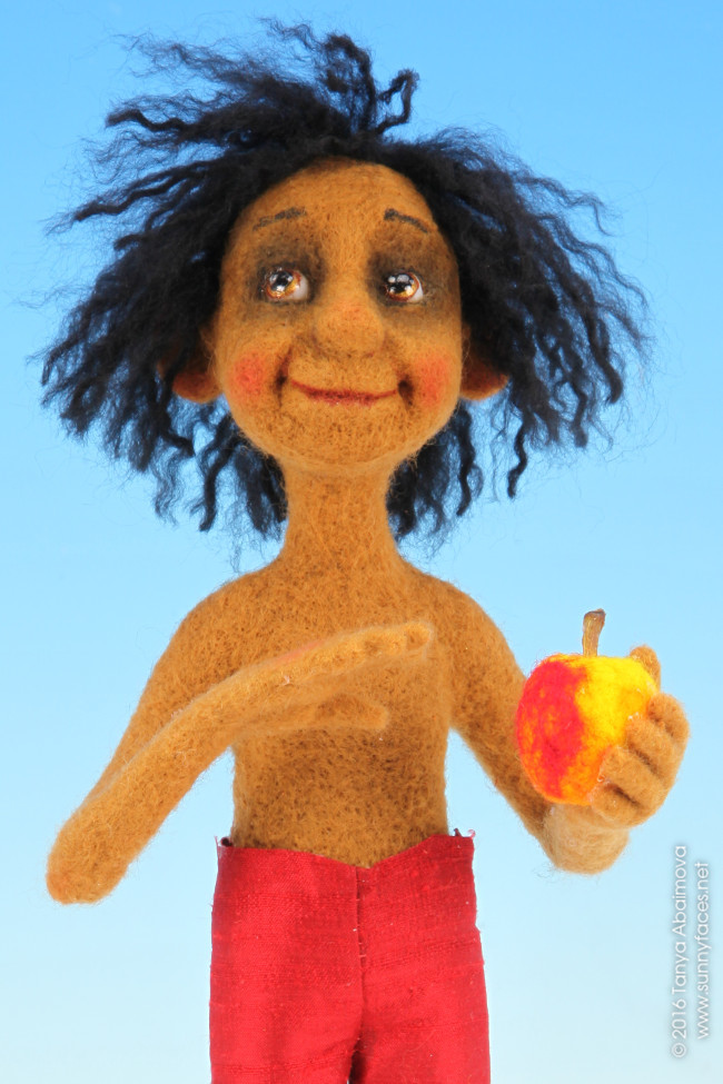 Mowgli - One-Of-A-Kind Doll by Tanya Abaimova. Soft Sculptures Gallery