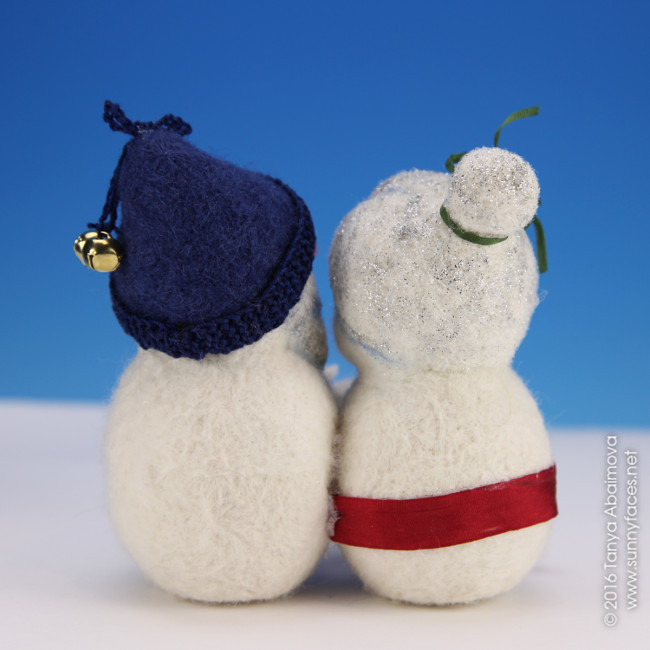 Snowcouple - One-Of-A-Kind Doll by Tanya Abaimova. Soft Sculptures Gallery