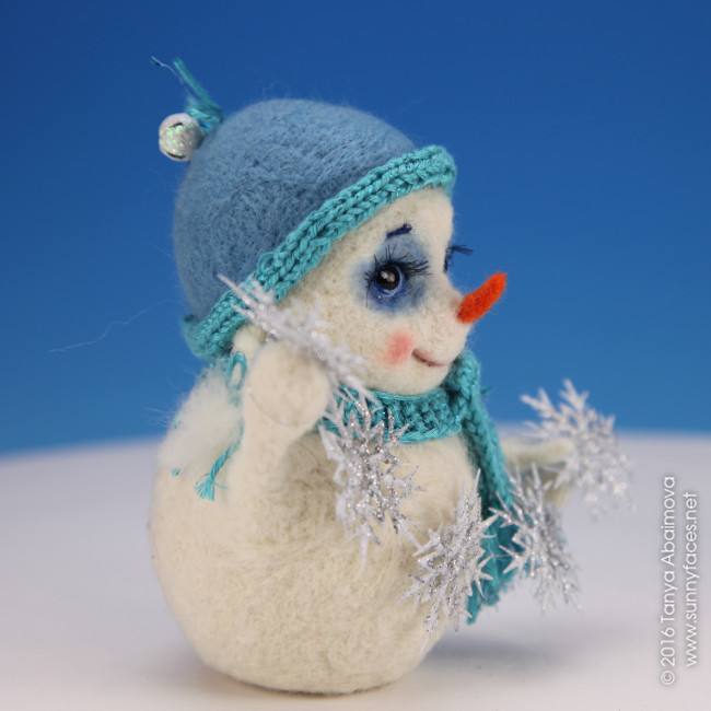 Snowgirl - One-Of-A-Kind Doll by Tanya Abaimova. Soft Sculptures Gallery