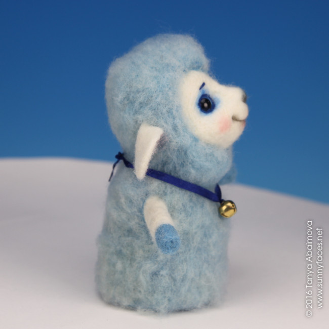 Little Sheep - One-Of-A-Kind Doll by Tanya Abaimova. Soft Sculptures Gallery