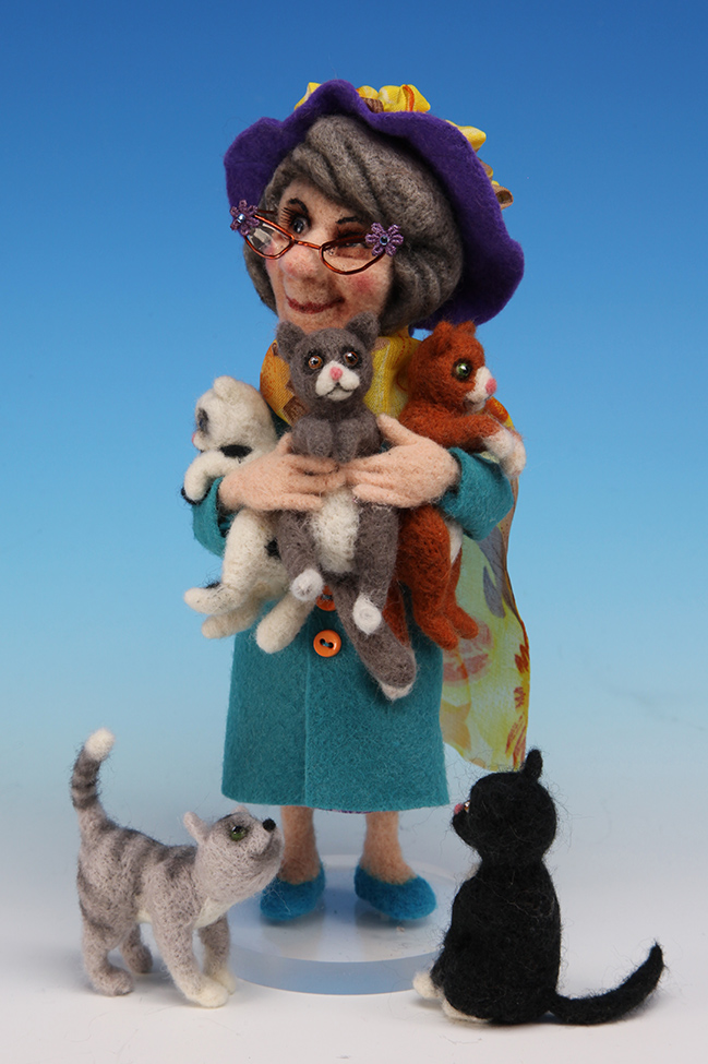 Mrs. Coldmilk  - One-Of-A-Kind Doll by Tanya Abaimova. Soft Sculptures Gallery